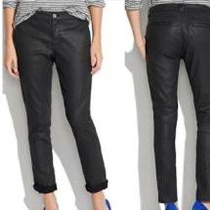 Madewell Rivington Coated Denim Black Trouser Pant